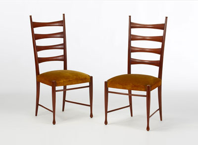 Buffa - Pair of chairs in citronnier wood