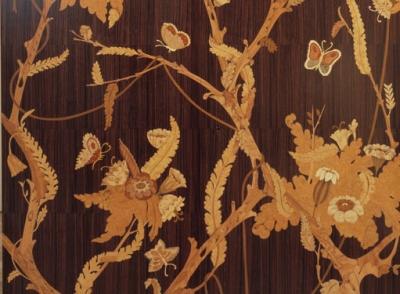 Indian rosewood wet bar inlaid